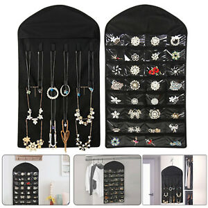 Delicieux Image Is Loading Closet Hanging Jewelry Organizer  Necklace Storage Holder Travel