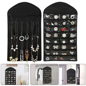 Image is loading Closet-Hanging-Jewelry-Organizer-Necklace-Storage -Holder-Travel-  sc 1 st  eBay & Closet Hanging Jewelry Organizer Necklace Storage Holder Travel ...