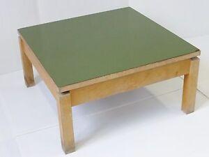 Details Sur Table Basse Carree Formica Kaki 1950 Vintage Rockabilly Vtg 50 S Coffee Table 1