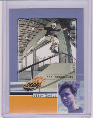RARE 2000 AXS ROAD CHAMPS WILLY SANTOS SKATEBOARD SK8 CARD ~ STICKER