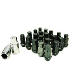 M12 X 1.5mm Aluminum Wheel Lug Nuts 20 Pcs w/Lock Gun Metal CX-7 3000GT Lancer
