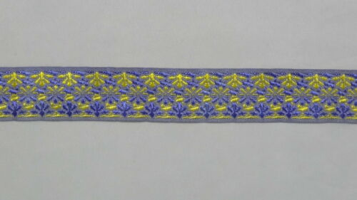 wide By The Yard Jacquard Trim Woven Border Sew Ribbon T831 2.54 Cm 01/""