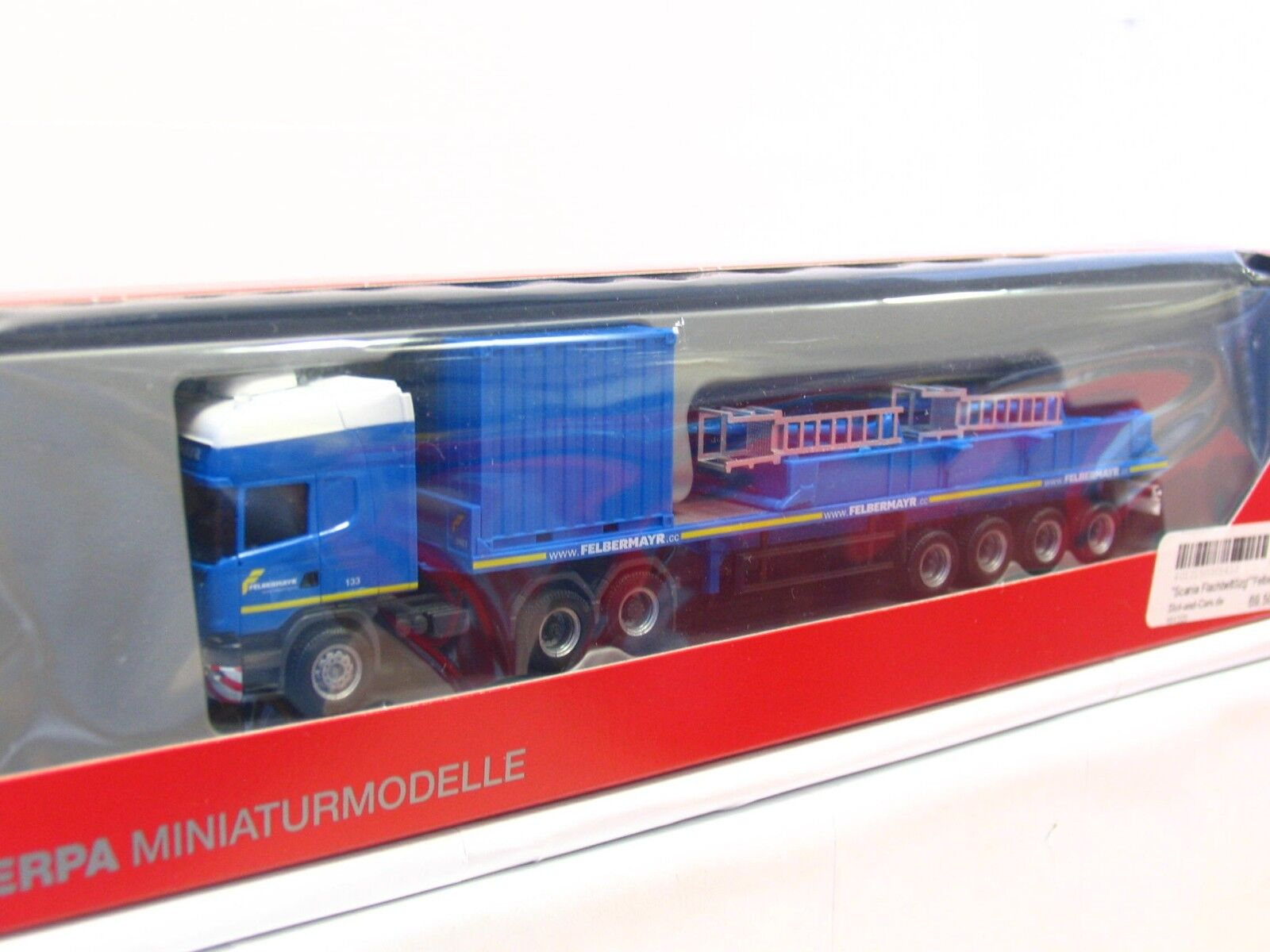 Herpa 1 87 305433 Scania R TL SZ container and pallet Felbermayr OVP (rb3954)