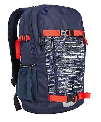 Chiemsee School Backpack Zaino Borsa Dk Bl/dk Grey Blu Grigio Nuovo-mostra Il Titolo Originale