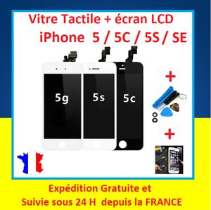 ECRAN-LCD-VITRE-TACTILE-SUR-CHASSIS-POUR-IPHONE-5-5S-5C-SE-NOIR-ou-BLANC
