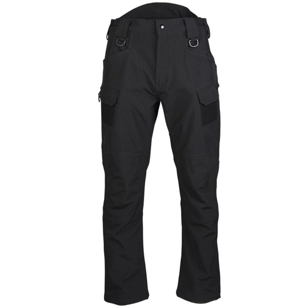 Men's asalto Softshell Resistente  Al Agua Senderismo Tactical Cochego Pantalones Negro  compra limitada