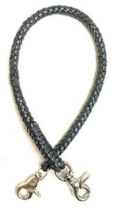 Black-braided-leather-Heavy-Duty-Trucker-Biker-chain-wallets-made-in-USA