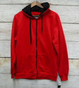 a12b61733b39 Brooklyn Xpress Mens Size XLarge Red Full Zip Fleece Hoodie ...