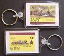 1866 Lehigh Valley Railroad CONSOLIDATION 2-8-0 Train Stamp Keyring (Loco 100)