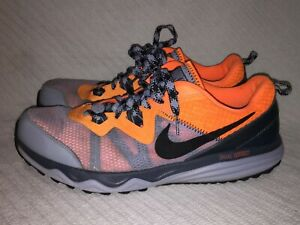 Desconocido Peaje Inquieto  Para Hombres Talla 12 Nike Dual Fusion Trail Running Senderismo Gris/Ora  Zapatillas 652867-011 | eBay