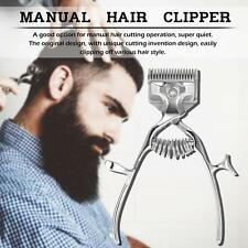 Barber Tools Hand Hair Clippers Manual Metal Trimmer for Adult Baby and Pet S8F9