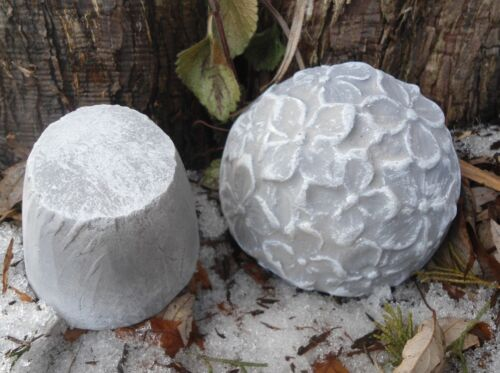 "Flower mushroom mold 2 piece reusable casting mold  total 3/"" W x 4/"" H"
