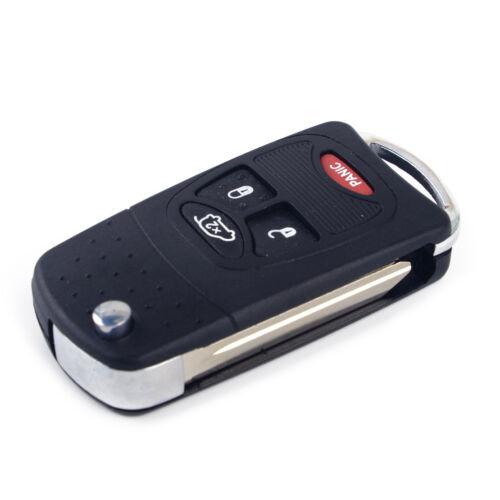 Komplettes Klappschlüssel Gehäuse 2 Tasten Tastaturmatte für Dodge Nitro Caliber