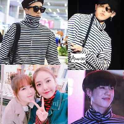 KPOP Bigbang G-Dragon Stripe Sweater Unisex GOT7 YuGyeom Sweatershirt Pullover