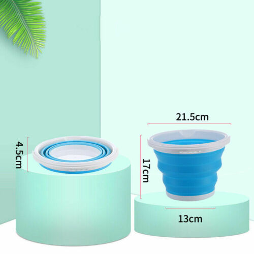 FOLDING COLLAPSIBLE SILICON PLASTIC BUCKET KITCHEN CAMPING GARDEN WATER CARRIER