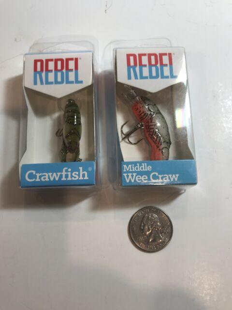 Stream Crawfish Rebel Teeny Wee Crawfish 1//10 oz Fishing Lure
