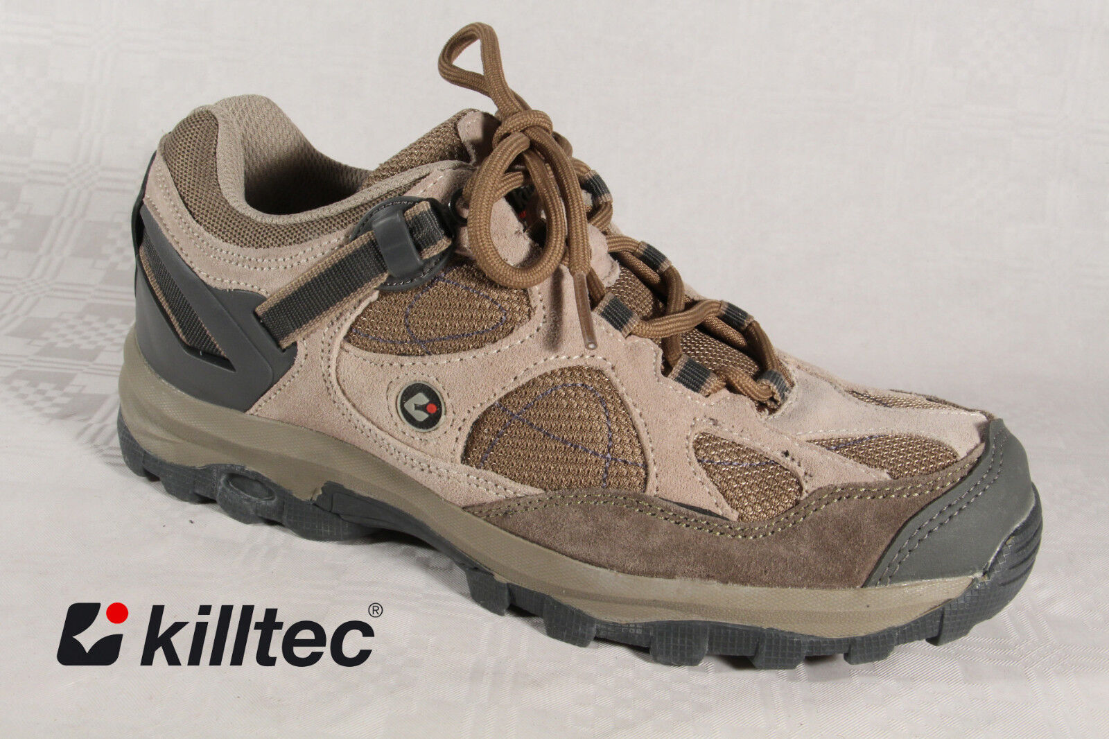 KILLTEC LADIES LACE-UP SHOES TRAINERS BEIGE NEW