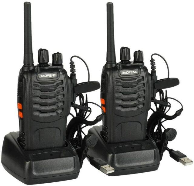 Baofeng BF-888S Talkie Walkie 5 W 2800 mAh 16 canaux 400-470 MHz UHF FM 2 Pcs