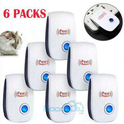 Ultrasonic Pest Repeller Mosquito Cockroach Reject Killer Insect Bug Mice T8K6