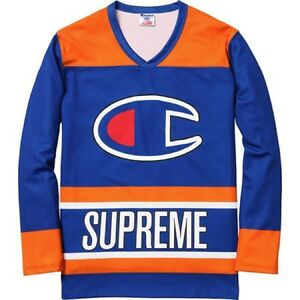 SUPREME x Champion Hockey Top Royal M Box Logo camp cap kate moss S ... e2f7292be