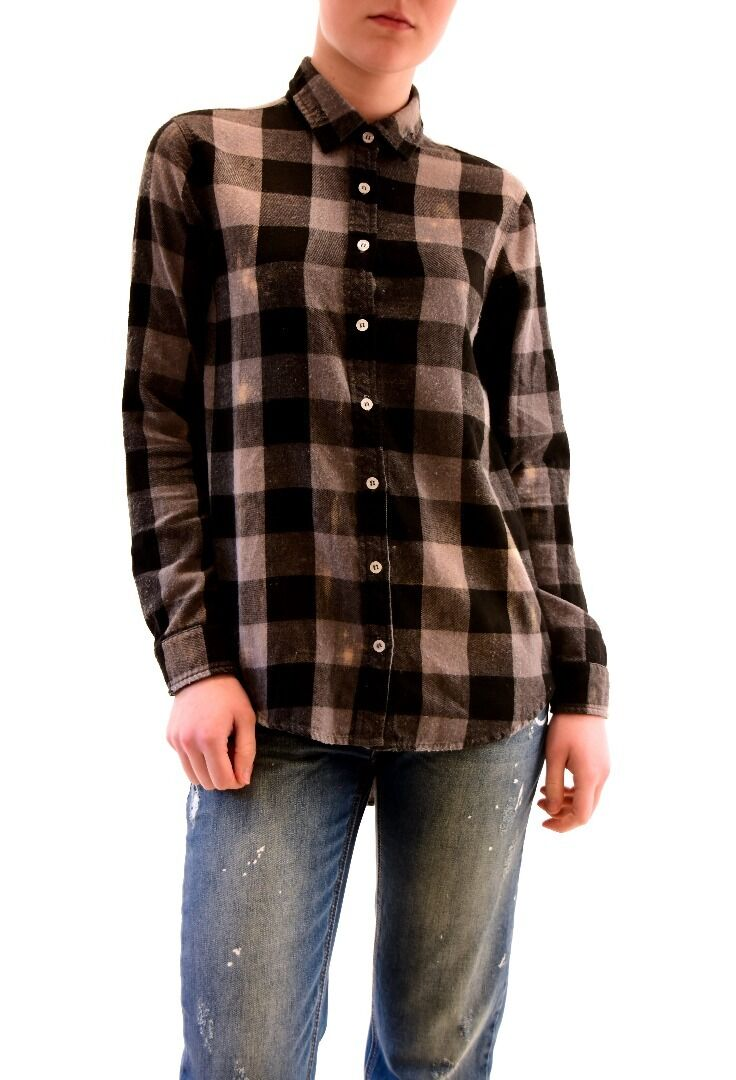 Sundry Woherren New Sun-Faded Checkerot Flannel Shirt schwarz US 1 RRP  BCF73