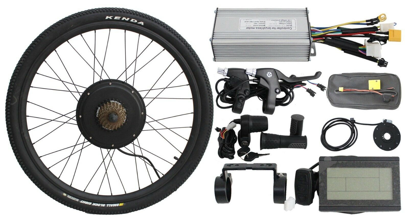 Fast ship 48v 1000w 26  Threaded Rear Wheel Ebike  Conversion Kit with Sine Wave  great offers