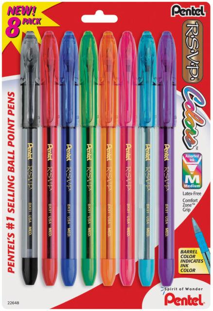 Pentel BK90BP3A Black Fine Point RSVP Ball Point Pens 3 Count