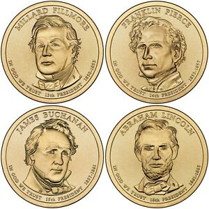 2009 D Presidential Dollar 4 Coin Set Denver Mint Fast Shipping
