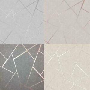 Fine-Decor-Quartz-Fractal-Geometric-Metallic-Wallpaper-Rose-Gold-Silver-Charcoal