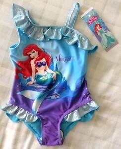 Image is loading Baby-Girls-Disney-Princess-Little-Mermaid-Ariel-Swimming- & Baby Girls Disney Princess Little Mermaid Ariel Swimming Costume ...