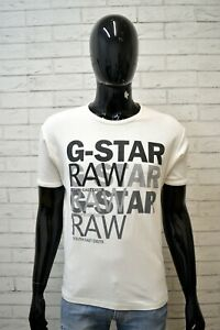 Maglia-Bianca-Uomo-G-STAR-Taglia-Size-XL-Maglietta-Polo-Manica-Corta-Shirt-Man