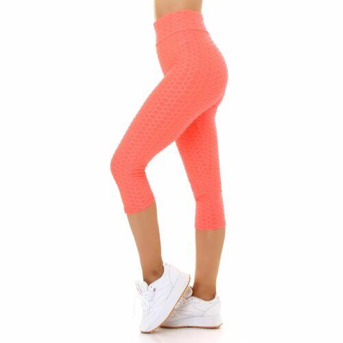 Leggings Capri Push-Up IVLI08300.05LXL/_QX Neon Apricot L//XL elastisch bequem