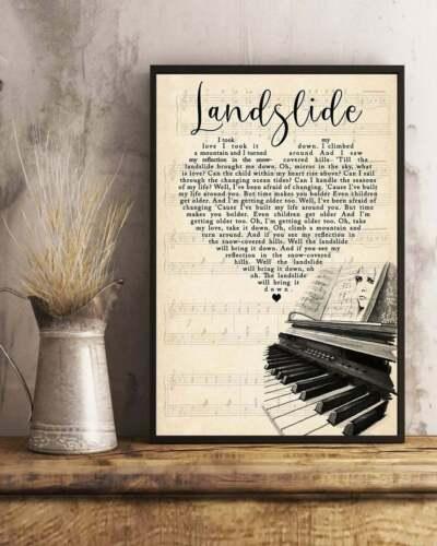 Landslide lyric poster Print Songs Lyric. Unframe song lyrics Fleetwood Mac