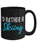 miniature 2 - I'd Rather Be Skiing Tea Cup Funny Coffee Mug Gift Skier Sport Fan