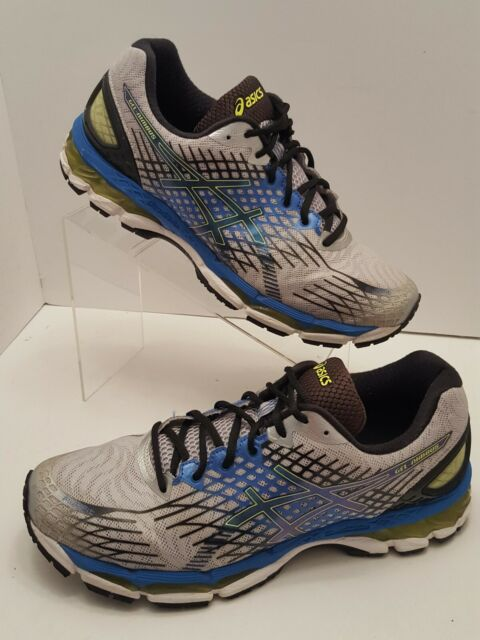 brand new 20ad6 9be49 ASICS Gel-Nimbus 17 Mens Size 11 2E Running Shoes Gray/Blue/Black/Yellow  T508N