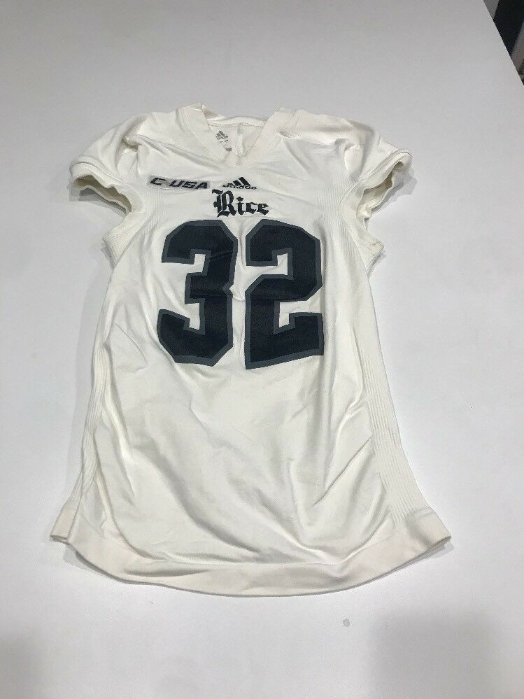 Game Worn Used Adidas Size Rice Owls Football Jersey Size Adidas M f3086b