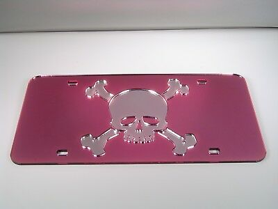 MAGICAL UNICORN ON PURPLE MIRROR LASER CUT INLAID ACRYLIC LICENSE PLATE FANTASY
