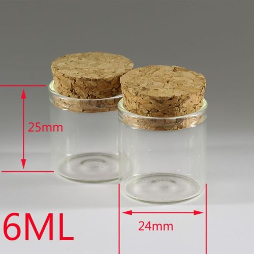 Wholesale 0.5-200ml Empty Vials Clear Glass Bottles /& Corks Jars Small Bottles
