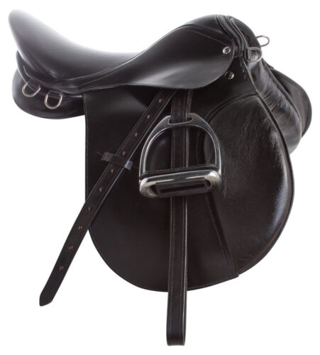 """Used English Horse Saddle 16"""" All Purpose Trail Riding Jumping Show Leather"""