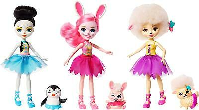 Liberal Enchantimals Frh55 Ballett Cuties Puppe 3er Packung Mehrfarbig Sonstige Spielzeug