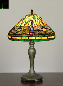 New-Arrival-Tiffany-Green-Dragonfly-Stained-Glass-Bedside-Table-Lamp-Light