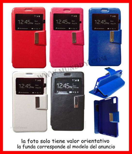 Funda Libro con Ventana para SONY Xperia Z1 L39H  de Cuero Soporte Flip Cover