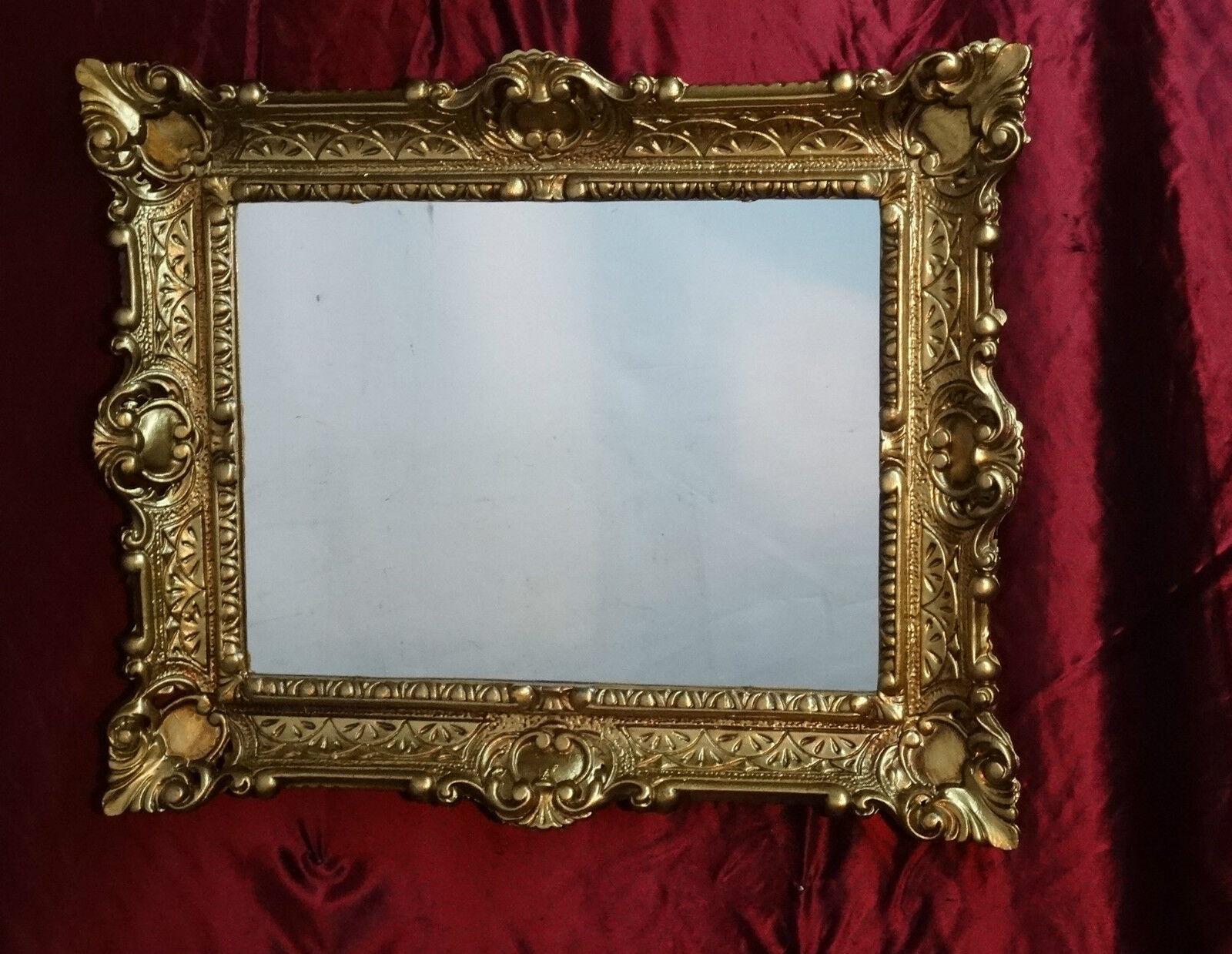 Miroir Miroir Miroir mural avec console miroir armoire 56x46 Antique Baroque 811 entrée meubles Gold 6d27c1