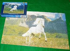 Wonders of Nature Jigsaw Puzzle 500 Pieces 18x11 White Horse Field Mountains