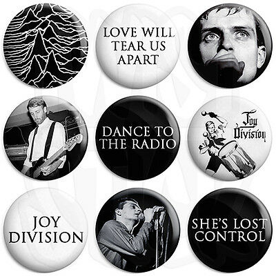 Joy Division Dance to the Radio 25mm Keyring Button Badge Zip Pull Option