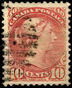 Early-Canada-45-10c-Brown-Red-1897-Queen-Victoria-VF-Used-Rare