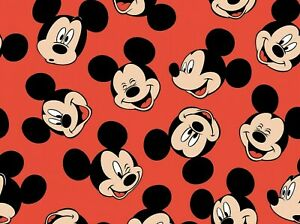 FAT-QUARTER-DISNEY-MICKEY-MOUSE-HEAD-TOSS-SPRINGS-CREATIVE-100-COTTON-FABRIC-FQ