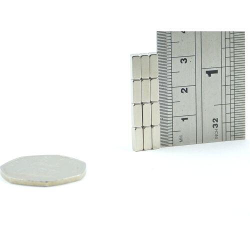 BULK PACKS N35 3mm x 3mm x 8mm Small Strong neodymium block magnets rare earth