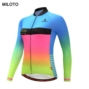 Image is loading MILOTO-Women-long-sleeve-cycling-jersey-roupa-ciclismo- 488bb8d5e