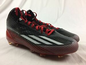 adidas-adizero-Black-Red-Cleats-Men-039-s-Multiple-Sizes-Used